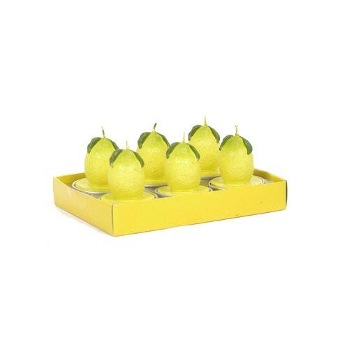 Fantastic Craft Boxed 6-Pack Tea Light Candles, Yellow Lemon