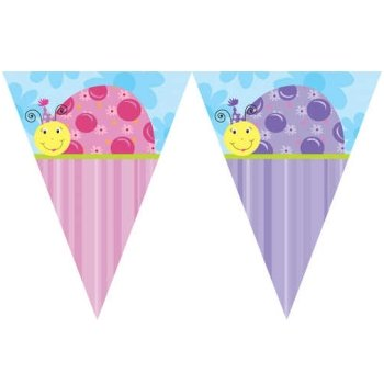 Lil Ladybug Party 12 Flag Banner - Each