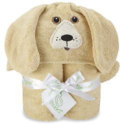 Kids Moose Hooded Towel Brown - 1