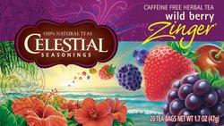 Celestial Seasonings - Wild Berry Zinger Herb Tea Caffeine Free - 20 Tea Bags