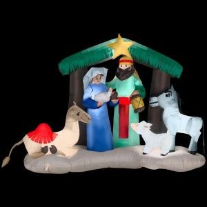 Christmas Decoration Lawn Yard Inflatable Lighted Nativity Scene 6' front-220086