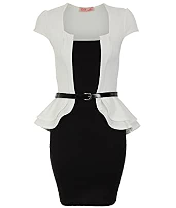KRISP® - Peplum / Robe À Basque Col Carré