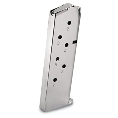 1911 .45 ACP 7-Round Steel Nickel-Plated Magazine (19660)