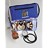 Pedia Pals Child Size Benjamin Bear Blood Pressure Kit With Carrying Case (Color: Pedia Pals Blue with Brown Bear, Tamaño: One Size)