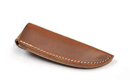 """Premium Hand Made High Quality English Bridle Leather Sheath That Can Be Wet Molded To Fit Your Knives With Interior Dimensions: 5-1/2"""" deep and 1-1/2"""" wide."""