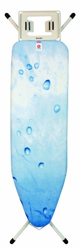 Brabantia Ice Water Ironing Board, Size B, 124 x 38 cm - with Steam Iron Rest