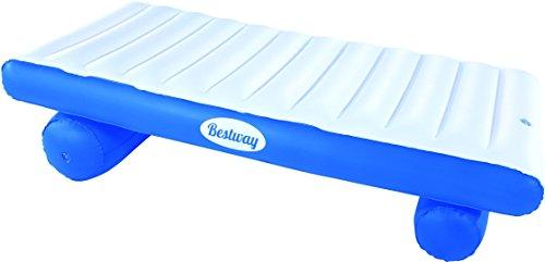 Bestway 43107 - Materassino Rialzato Coolerz Luxury, 177 x 94 cm, Blu/Bianco