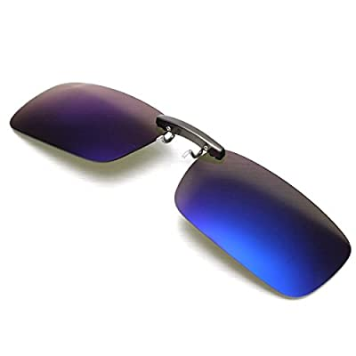 CAMTOA Polarized Clip On Sunglasses Driving Night Vision Lens Sun Glasses Anti-UVA Anti-UVB For Women & Men
