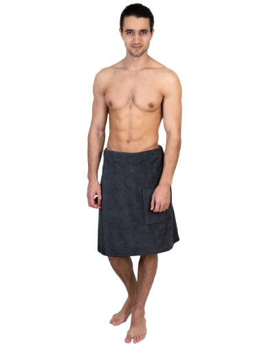 Towelselections Cotton Terry Bath Towel Shower Wrap For Men Made In Turkey Small/Medium Charcoal front-1062711