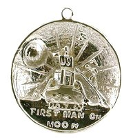 CLASSIC DESIGNS Sterling Silver 925 Man On The Moon Charm N269