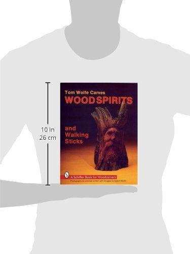 Tom wolfe carves wood spirits and walking sticks schiffer