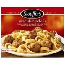 Nestle Stouffers Entree Swedish Meatball, 11.5 Ounce -- 12 per case. (013800120090)