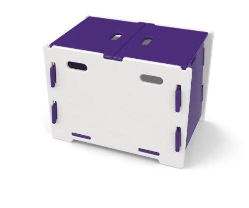 Legare Secret Garden Boîte de rangement 60 x 44,2 x 42 cm-Violet/blanc