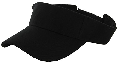 Plain Men Women Sport Sun Visor One Size Velcro Cap ( 29+ Colors) Black,One Size (Sun Visor Hats Sport compare prices)