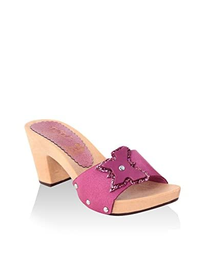 hh-Made in Italy Mules Fucsia