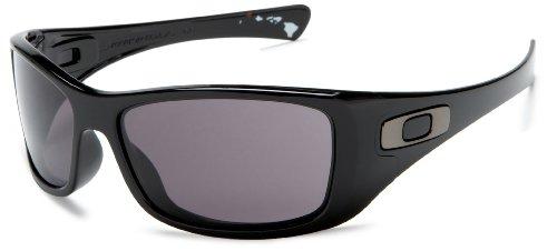 Oakley HIJINX Polished Black/Warm Grey Sunglasses (Polished Black,Warm Grey)