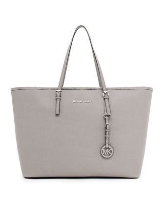 Michael Michael Kors Jet Set Travel Tote Pearl Gray