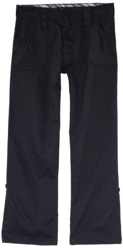 U.S. Polo Association School Uniform Big Girls' Twill Roll Up Pant, Navy, 8
