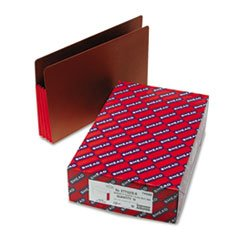 * 3 1/2 Inch Accordion Expansion File PocketsStraight Tab, Legal, Red, 1