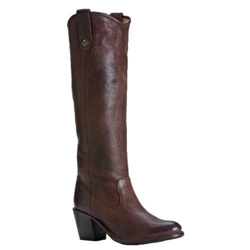 Online Frye Women S Jackie Button Boot Dark Brown Pressed