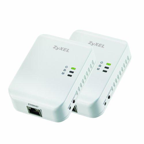 ZyXEL PLA401v3  HomePlug AV 200 Mbps Powerline Wall-plug Adapter (Starter Kit - 2 units)