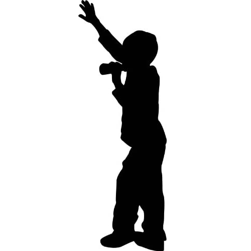 People Silhouette Wall Decals Boy Singing with Microphone ...