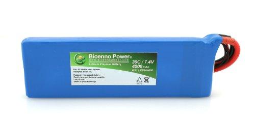 Bioenno Power Lightweight 30C, 7.4V, 4000 mAh LiPo Battery for RC Models