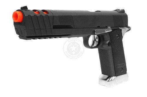 Wg Airsoft Sport 103 Xl Co2 Nbb 1911 Pistol W/ Compensator - Black