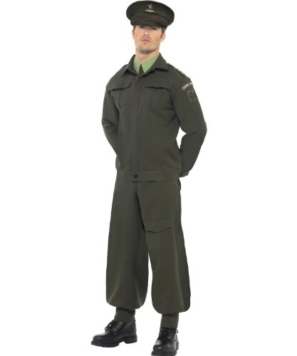 Lets Party By Smiffy's WW2 Home Guard Adult Costume / Green - Size Large