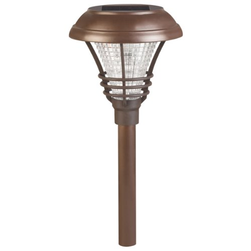 westinghouse brown kenbury solar outdoor garden pathway led stake lights 6 p. Black Bedroom Furniture Sets. Home Design Ideas