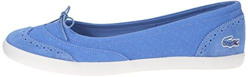 Lacoste Women's Loxia 216 1 Boat Shoe, Blue, 7.5 M US