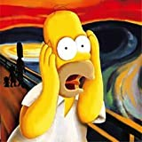 Imagenation The Simpsons - Homer Scream - Framed Canvas Art Print : Size - 25CM X 25CM X 3CM DEPTH / 10