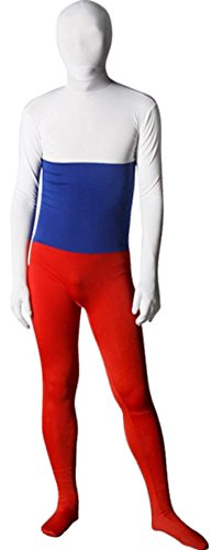 Marvoll Lycra Spandex Flag Zentai Halloween Costume (Medium, Russia) (Dance Costumes Russia)