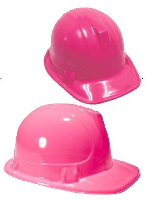 New Girls Pink Plastic Construction Costume Hard Hat
