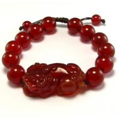 Amazon Chinese Oriental Design Natural Red Agate Pi Xiu Bracelet