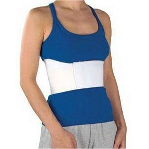 """DSS CMO Female Elastic Rib Belt 2Extra-Large 6"""" L, White, 36"""" to 42"""" Chest Circumference"""