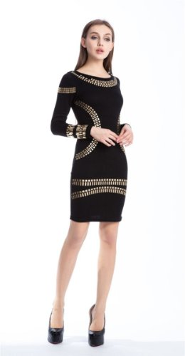 Sexy Clubwear Nacht Abend Tunika Bling Strass Kleid Damen Kleider