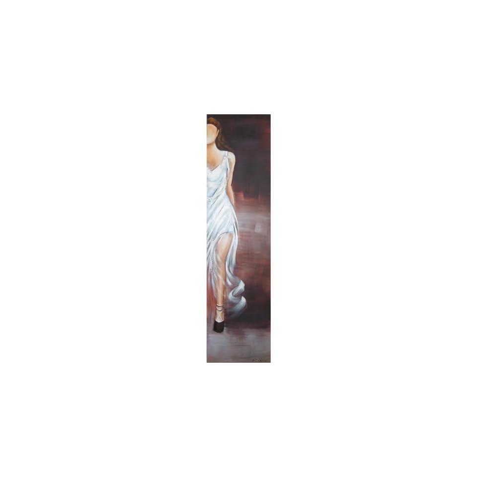 Yosemite Home Decor FCB048 2YNW1 Diva White V Hand Painted Contemporary Artwork, Costume and Fashion Figurative