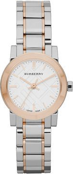 Burberry Watch, Women's Swiss Two Tone Stainless Steel Bracelet 26mm BU9205