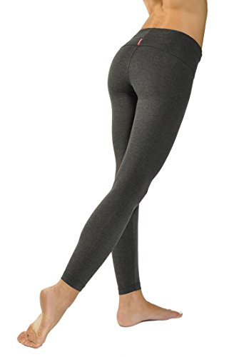 Contour Roll Down Ankle Legging (Dark Charcoal)