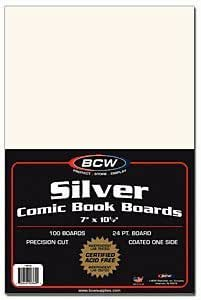 "BCW Backing Boards, 7 x 10 1/2"", Silver"
