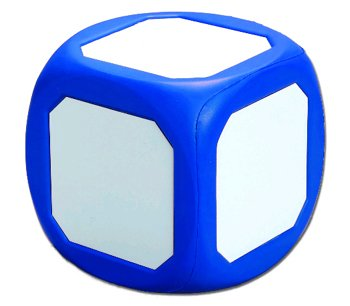 Magnetic Write-On Wipe-Off Die Blue