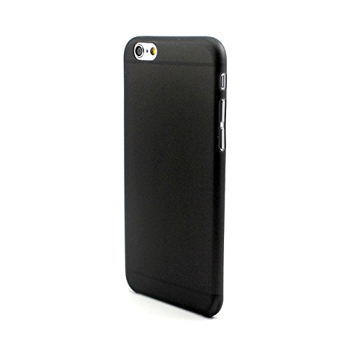 KGC_DOO® Custodia COVER CASE NERA SEMIRIGIDA ULTRA SLIM FROSTED MATTE 0,3MM per Apple iPhone 6 4.7 - Cover ultra Sottile
