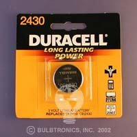 DURACELL DURACELL ULTRA PHOTO LITHIUM DL2430 LITHIUM 3V 280MAH Batteries
