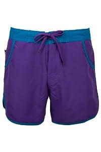 Mountain Warehouse Plain Womens Swimming Pool Summer Beach Surf Board Shorts Dark Purple 6