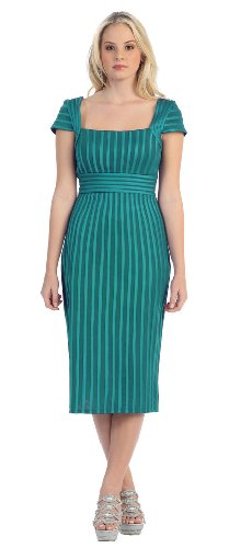 Mother of the Bride Formal Evening Dress #999 (12, Teal)