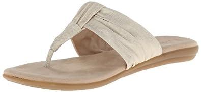 Aerosoles Women's Chlairvoyant Flip Flop,Gold Fabric,5 M US