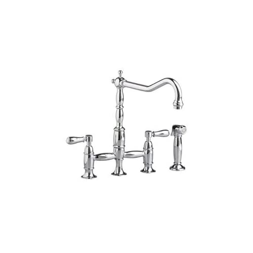 Cyber Monday Deals American Standard 4233.701.295 Culinaire Double-Handle Top Mount Bridge Kitchen Faucet with Spray, Satin Nickel...