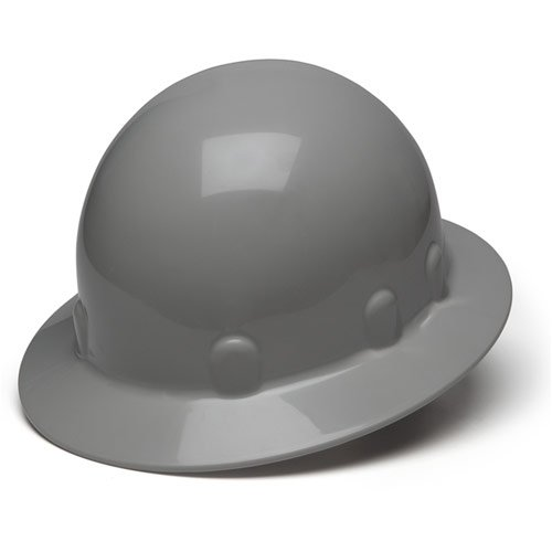 93d19a45e85f1c Pyramex Gray Full Brim Style 4 Point Ratchet Suspension Sleek Shell Hard Hat