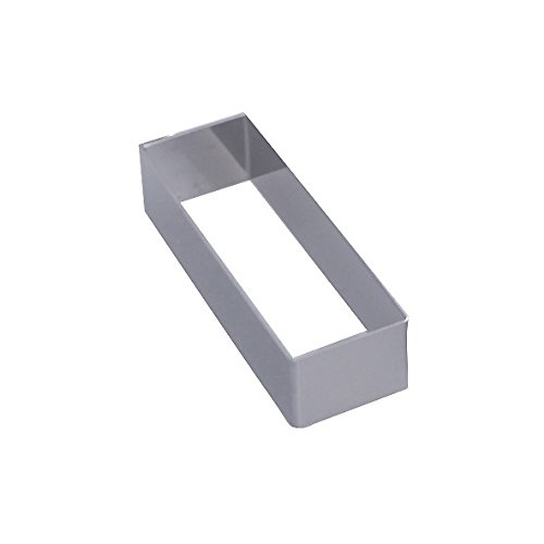 De Buyer 3943.13 Cercle Rectangle inox - ht. 4 cm - 12 x 4 cm